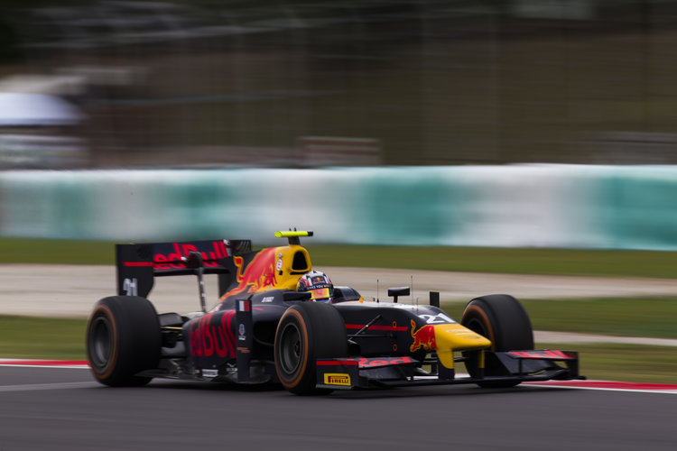 2016 GP2 Series Round 10 Sepang, Kuala Lumpur, Malaysia Thursday 29 September 2016. Pierre Gasly (FRA, PREMA Racing)  Photo: Sam Bloxham/GP2 Series Media Service. ref: Digital Image _SBB3167