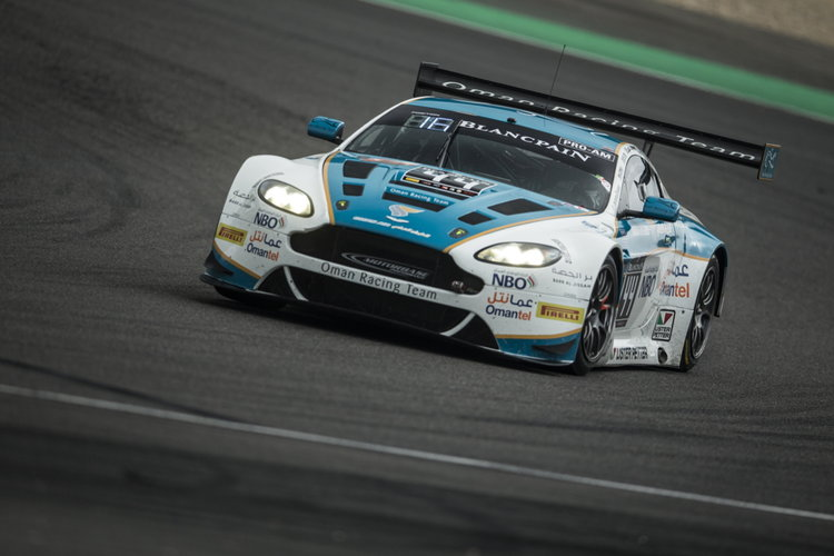 The Oman Racing Team Aston at Blancpain Nurburgring round.