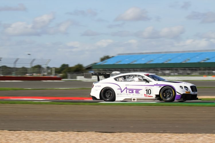 Jordon Witt driving the Bentley is on pole for the final race at Silverstone