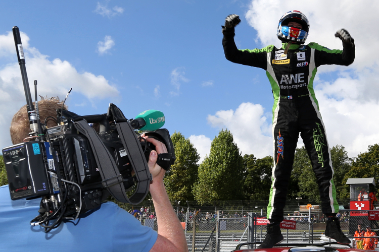 Whorton-Eales Celebrates His Championship Success - Credit: Jakob Ebrey Photography