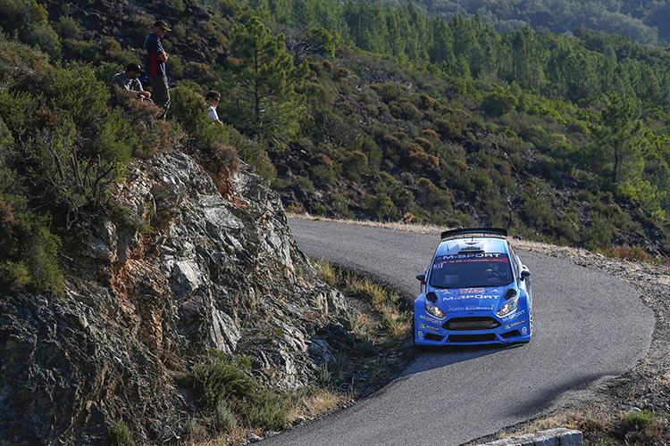 Elfyn Evans 2016 WRC2 Tour de Corse M-Sport