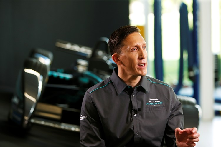 James Barclay (Team Director, Jaguar Racing) during the official Jaguar Racing Formula E Launch at the Jaguar Heritage Collections Centre, Gaydon, UK.