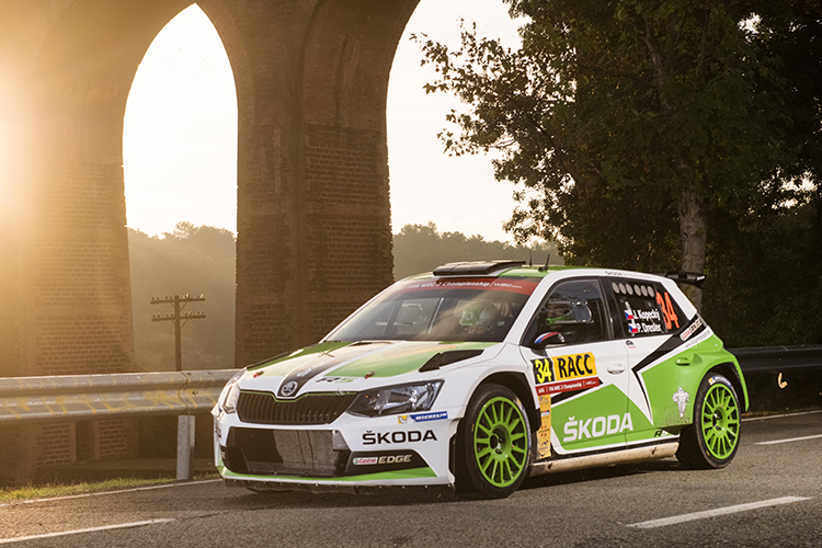 Jan Kopecky WRC2 Winner 2016 Rally de Espana