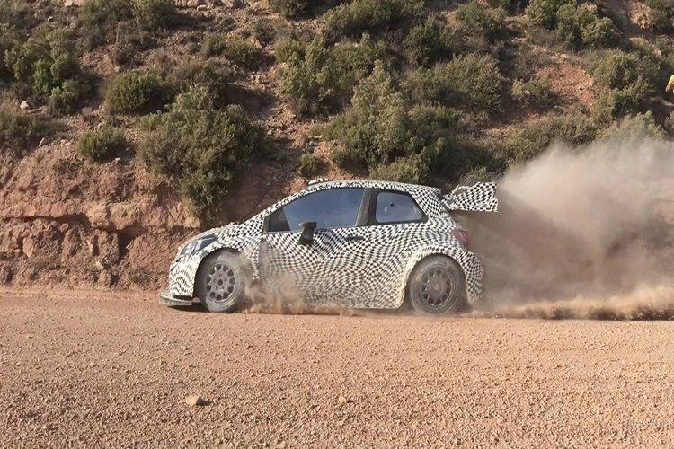 Juho Hanninen 2017 Toyota Yaris WRC test Spain gravel