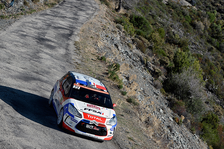 France's Laurent Pellier takes victory in the Junior WRC category in the 2016 Tour de Corse - Rallye de France. Credit: @World Photography/Citroën Racing