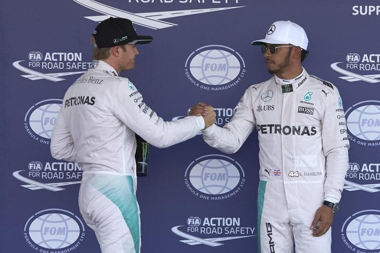 Lewis Hamilton and Nico Rosberg - Credit: Mercedes AMG Petronas Formula One Team
