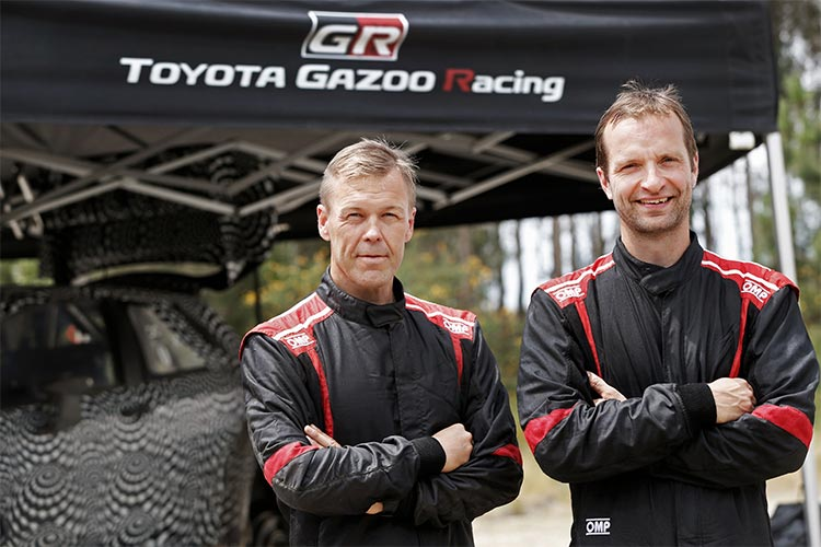 Kaj Lindstrom and Juho Hanninen - Credit: Toyota