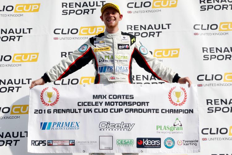 Max Coates – 2016 Renault UK Clio Cup 'Graduates Cup' Champion