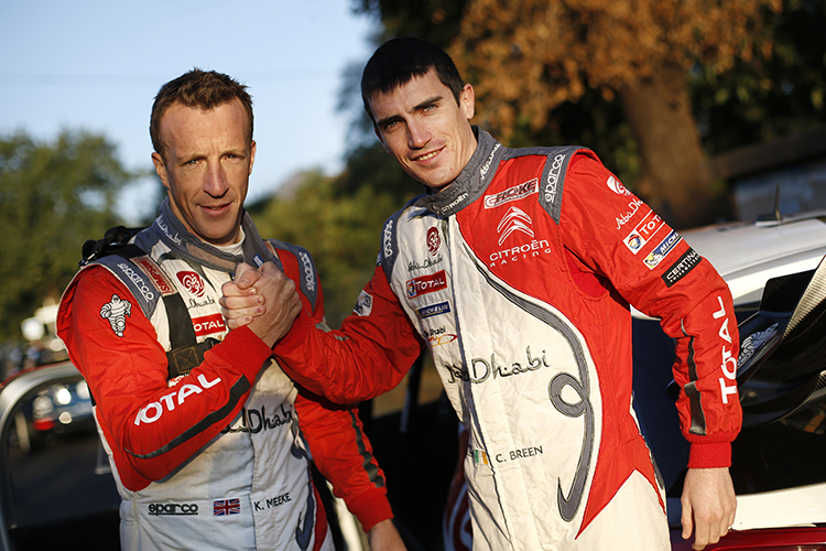 Kris Meeke and Craig Breen make up two-thirds of the three Citroën crews for the 2017 and 2018 WRC season. Credit: @World Photography/Citroën Racing