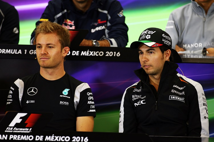 Nico Rosberg and Sergio Perez - Credit: Sahara Force India