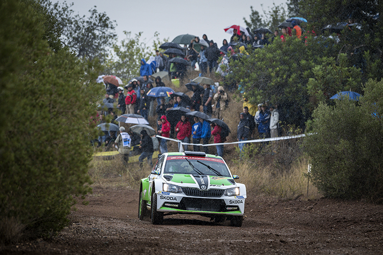 Pontus Tidemand WRC 2 Day 1 Leader 2016 Rally Catalunya