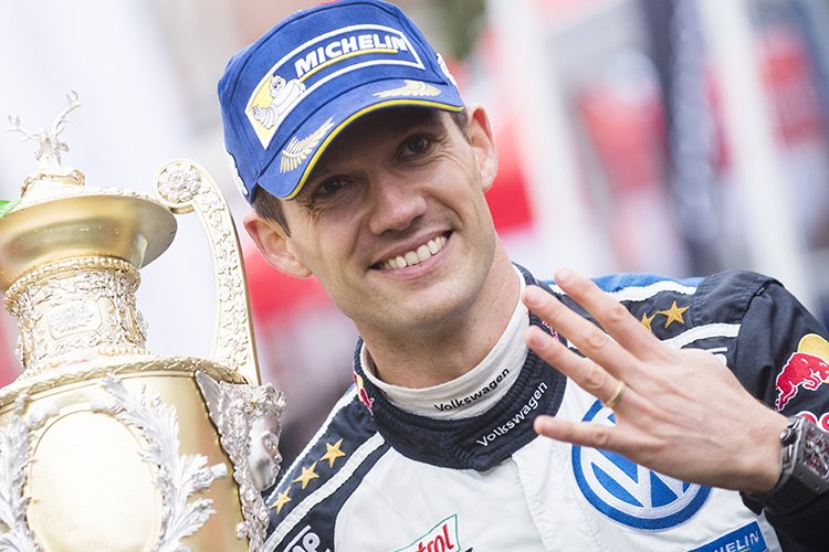 Sebastien Ogier 2016 Dayinsure Wales Rally GB winner VW
