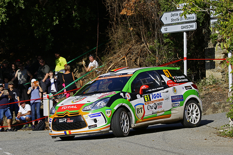 Simone Tempestini is the 2016 Junior WRC Champion by finishing fourth at Tour de Corse. Credit: @World Photography/Citroën Racing