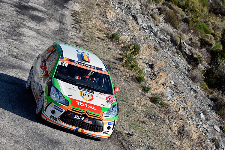 Italy's Simone Tempestini is the 2016 Junior WRC Champion after claiming fourth place in Corsica. Credit: @World Photography/Citroën Racing