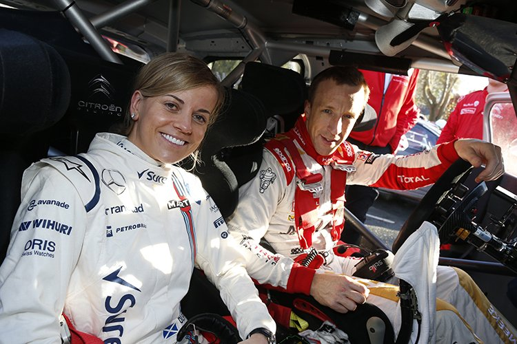 Susie Wolff Kris Meeke Dare to be Different 2015 Wales Rally GB