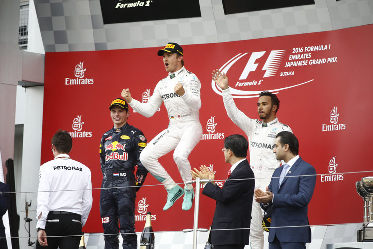 Großer Preis von Japan 2016, Sonntag. Credit: Mercedes AMG PETRONAS