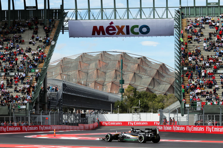 Nico Hulkenberg (GER) Sahara Force India F1 VJM08. Mexican Grand Prix, Friday 30th October 2015. Mexico City, Mexico. Credit: Sahara Force India F1 Team