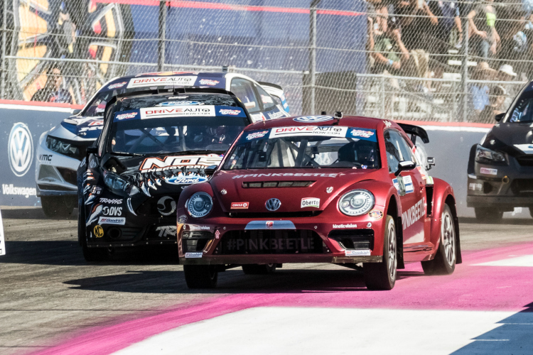 Super Car start at Red Bull Global Rallycross Los Angeles in San Pedro California USA on October 8th 2016