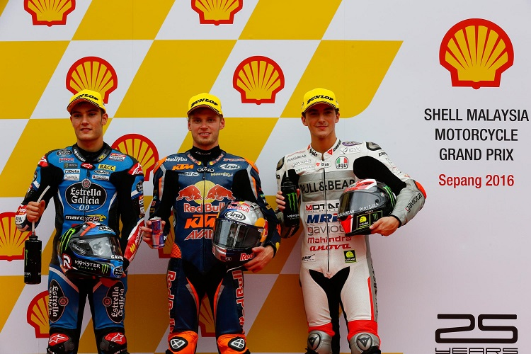 The top three qualifiers at Sepang - Photo Credit: MotoGP.com