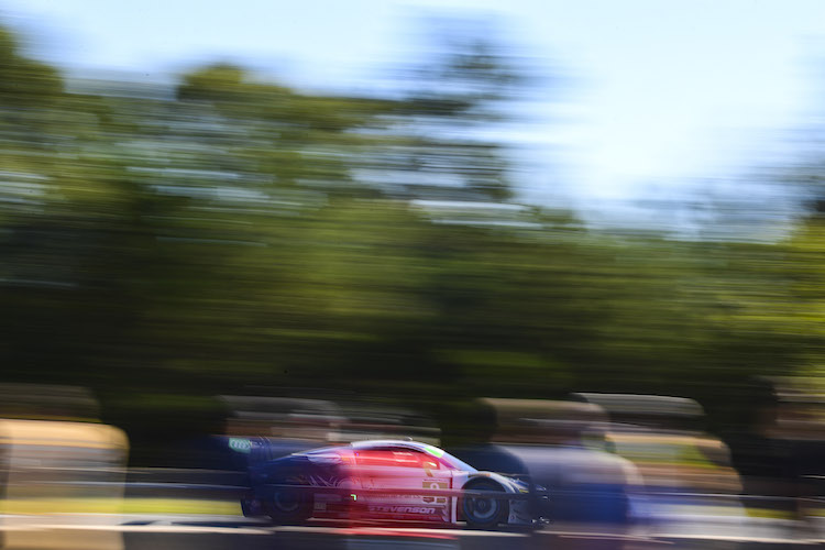 Stevenson Motorsports' #9 stayed clear of trouble to claim GTD lead at the end of the 6th hour (Credit: IMSA)