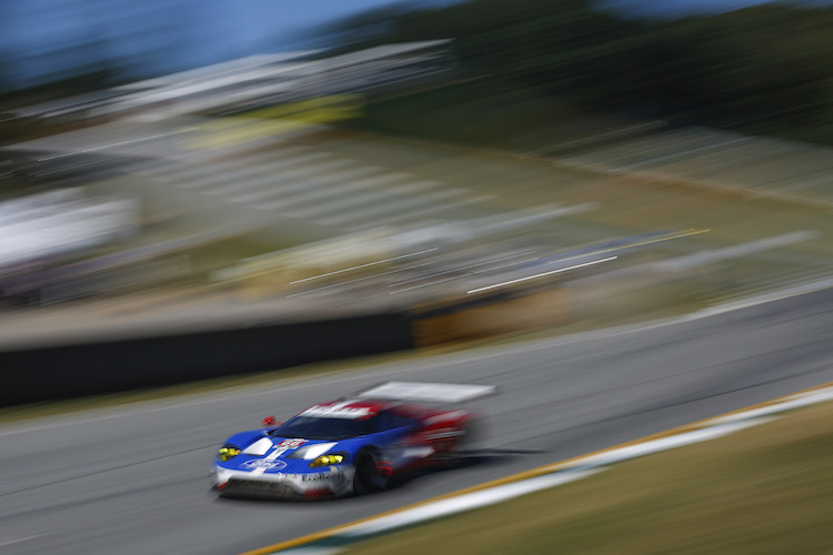 The #66 Ford GT had no issues and survived the traffic to lead GTLM at the end of the first three hours (Credit: IMSA)