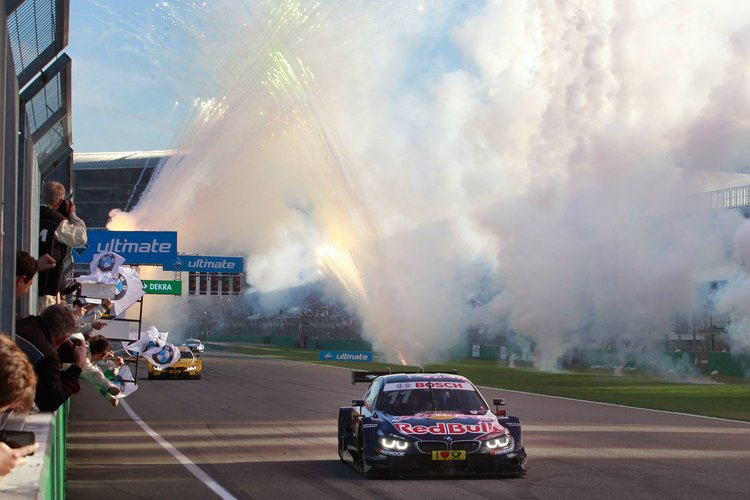 Hockenheim (DE) 16th October 2016. BMW Motorsport, Race 18, DTM Champion 2016 Marco Wittmann (DE) Red Bull BMW M4 DTM.