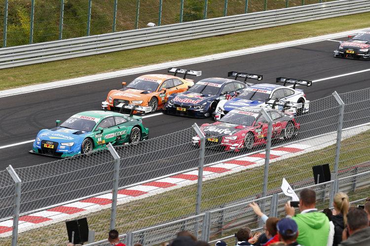 Motorsports: DTM race Budapest 2016,   #48 Edoardo Mortara (ITA, Audi Sport Team Abt, Audi RS 5 DTM),  #53 Jamie Green (GBR, Audi Sport Team Rosberg, Audi RS 5 DTM),  #11 Marco Wittmann (GER, BMW Team RMG, BMW M4 DTM),  #36 Maxime Martin (BEL, BMW Team RBM, BMW M4 DTM),  #17 Miguel Molina (ESP, Audi Sport Team Abt Sportsline, Audi RS 5 DTM),  *** Local Caption *** +++ www.hoch-zwei.net +++ copyright: Juergen Tap / Hoch Zwei +++