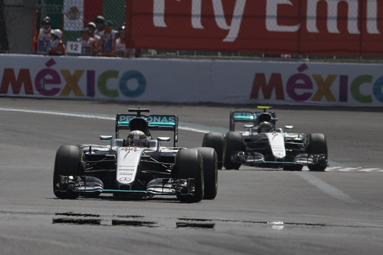 Lewis Hamilton and Nico Rosberg - Credit: Mercedes AMG Petronas Formula One Team