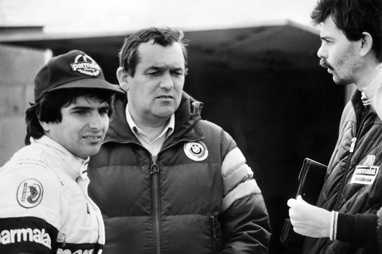 Paul Rosche (centre) with Nelson Piquet and Gordon Murray in 1982 - Credit: BMW Group