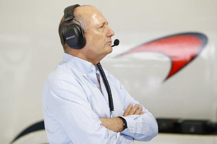Ron Dennis in the garage. Credit: McLaren Media Centre