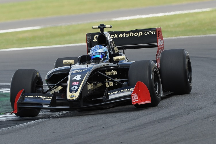 Roy Nissany was the only driver to win both races of a weekend, and he did so at Silverstone - Credit: Formula V8 3.5