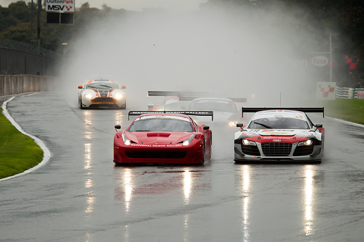 A sodden race at Oulton Park put spice into the Championship fight. (Credit: Nick Smith/TheImageTeam.com)