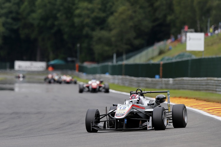 George Russell took two wins on his way to third in the standings - Credit: FIA Formula 3 European Championship / Thomas Suer
