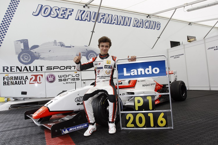 Lando Norris was a double champion in 2016 - Credit: Gregory Lenormand / DPPI