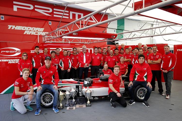 Prema Powerteam celebrated another European F3 title in 2016 - Credit: FIA Formula 3 European Championship
