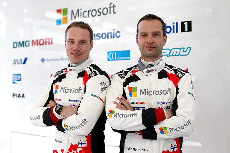 Jari-Matti Latvala and Miikka Anttila - Credit: Toyota