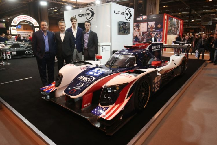 United Autosports Team Owners Zak Brown and Richard Dean, with European Le Mans Series LMP2 drivers Hugo de Sadeleer and Will Owen - Credit: United Autosport