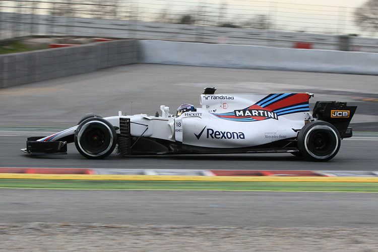 Lance Stroll - Williams FW40 - Barcelona - Credit: Octane Photographic Ltd