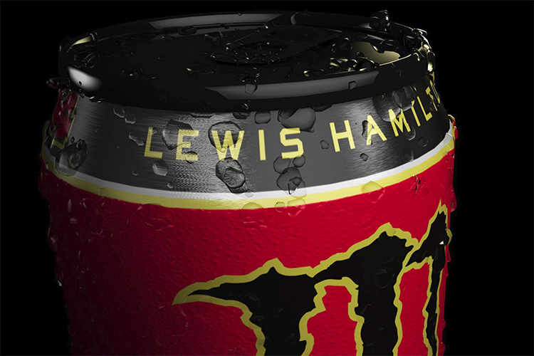 Lewis Hamilton teams up with Monster Energy for signature drink - The Checkered Flag