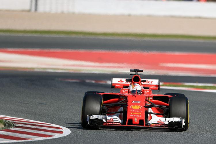 Sebastien Vettel - Ferrari - 2017 Barcelona Pre-Season Testing - Credit: Octane Photographic Ltd.