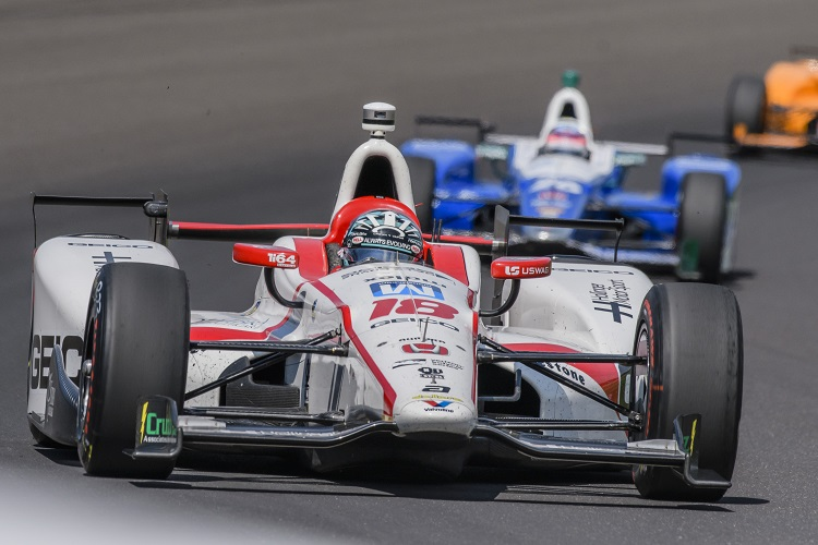 Indianapolis 500: Takuma Sato holds off Castroneves for first Brickyard win
