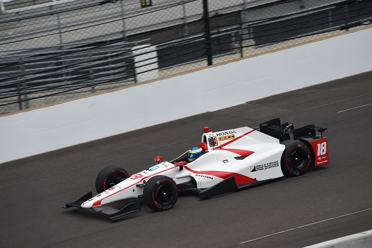 bourdais crashes heavily during indy 500 qualifying the checkered flag. Black Bedroom Furniture Sets. Home Design Ideas