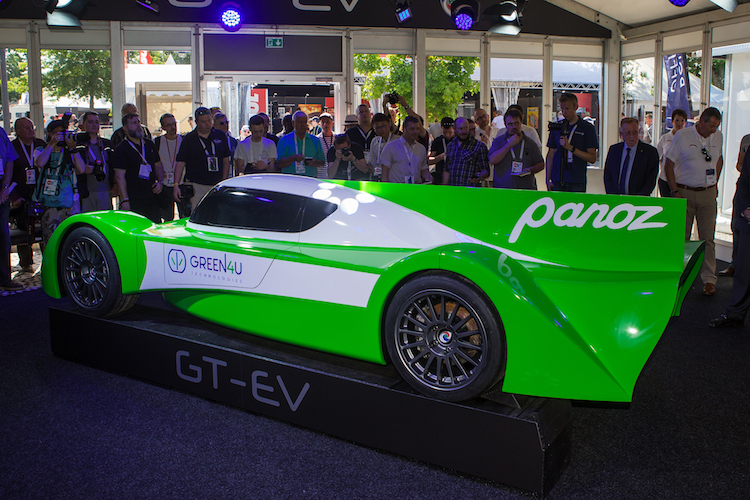 Panoz debuts 603-hp GT-EV electric race auto at Le Mans