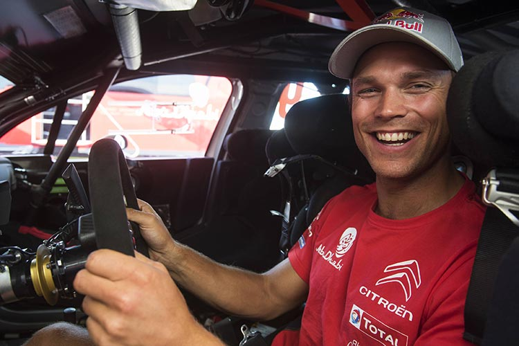 Andreas Mikkelsen (NOR) poses for the portrait during the FIA World Rally Championship 2017 in Alghero, Italy on june 7, 2017