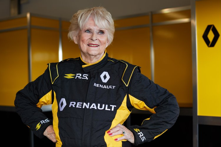 79-Year-Old Lady Drives Renault F1 vehicle