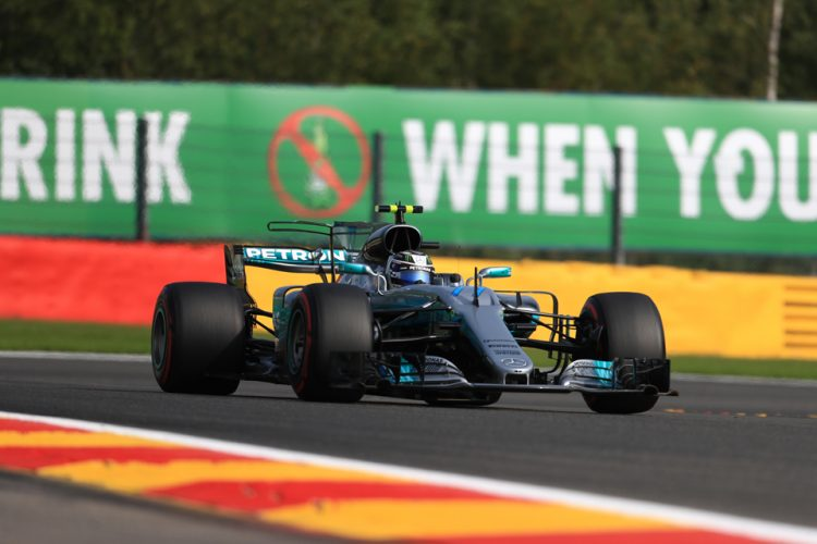 Stevenage's Lewis Hamilton in practice for F1 Belgian Grand Prix
