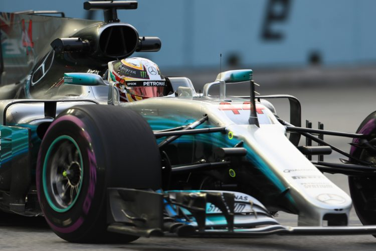 Lewis Hamilton claims 'fortunate' win after Vettel's early crash