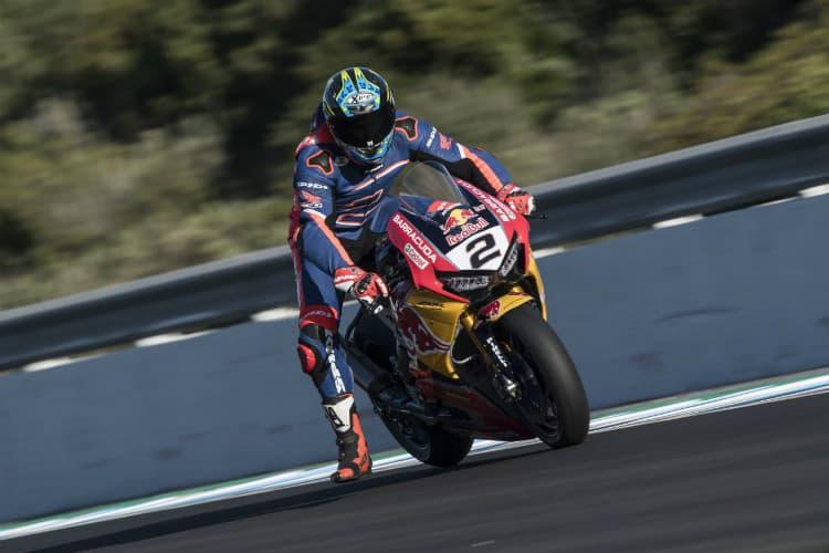 Leon Camier on Red Bull Honda Test Debut