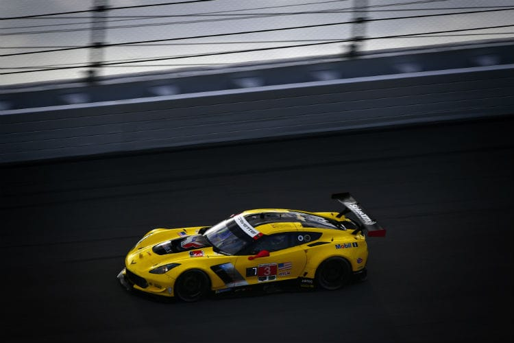 Antonio Garcia in the #3 Corvette had managed to get onto the lead GTLM but is a minute behind the Fords. Credit Scott R LePage  LAT Images