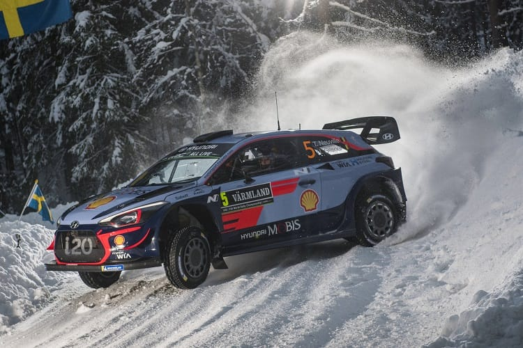 Rally Sweden Neuville Leads Hyundai One Two Three The